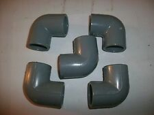 "FIVE (5) X 1"" NEW SCH-80 CPVC PIPE FITTINGS ELBOW 90 HIGH STRENGTH MADE IN USA"