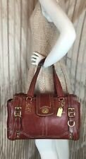 11086 COACH REDDISH WHISKEY HAMPTON VINTAGE CARRYALL SATCHEL TOTE EUC SHIPS FREE