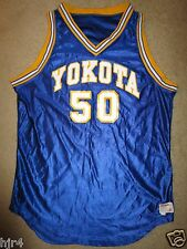 Yokota #50 US Air Force Japan Basketball Game Used Worn Wilson Jersey 46