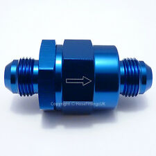 AN-8 BLUE ONE WAY NON-RETURN CHECK VALVE Fuel Inline EFI Hose Fitting Adapter
