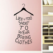 Girl Bedroom Quote Wall Sticker Closet Decal Home Room Decor DIY Removable AA+