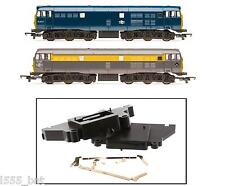 'New' Hornby X6847 Railroad Class 31 Side Frames Motor Housing & Pickup Contacts