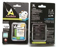 Batteria maggiorata originale ANDIDA 1650mAh x Nokia C5-00