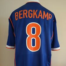 Holland Away Football Shirt Adult XL BERGKAMP #8 1998/2000 Netherlands