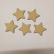 20 x Small wooden Stars 5cm blank craft shapes