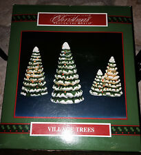 CHRISTMAS AROUND THE WORLD 3 LIGHTED XMAS TREES GREAT FOR MERVYN'S VILLAGE
