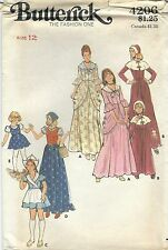 Butterick 4206 Girls' Costume Pilgrim, Colonial, Dutch and Gypsy Size 12