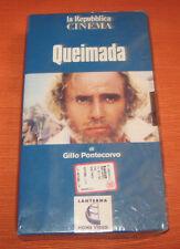 """Videocassetta/VHS/Gino Pontecorvo """" QUEIMADA """" La Repubblica/cod.B15064"""