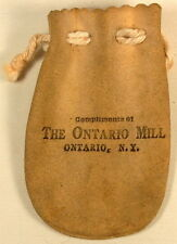COMPLIMENTS OF THE ONTARIO MILL NY VINTAGE ADVERTISING MARBLE BAG