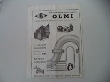 advertising Pubblicità 1947 OLMI OFFICINA LAVORAZIONE METALLI - MILANO