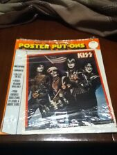 vintage kiss tour 1976 self adhesive poster put-ons factory sealed obselete