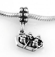 STERLING SILVER RAFTERS WHITE WATER RAFTING DANGLE BEAD