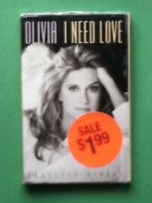 I Need Love by Olivia Newton-John, RARE - SEALED Cassette Single, Geffen, 1992