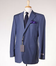 NWT $2095 CANALI 1934 Gray-Blue Check Year-Round Wool Suit 44 L Modern-Fit