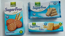 Gullon Sugar Free Biscuits (x 3 packs) shortbread,chocolate wafers and fibre