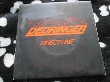 "Dedringer ‎– Direct Line  Dindisc ‎– DIN 12 Picture  Sleeve UK  7"" 45 single"