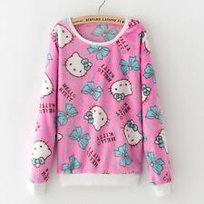 Helllo Kitty Fleecy Jumper PInk Kawaii Cute Harajuku Size 10-12