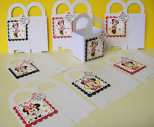 8 Disney's MINNIE MOUSE-RED Personalized  boxes birthday party favors goody bags