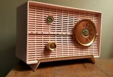 Vintage Retro Pink RCA Victor Table Top Tube Radio Model 8-X-5F Hums But Works