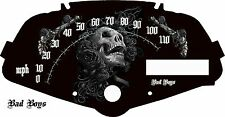 Honda Fury Custom Speedometer Face Black Rose  MPH or HM/H