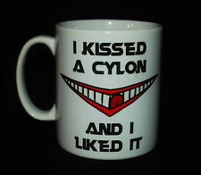 I KISSED A CYLON AND LIKED IT CUP MUG BATTLESTAR GALACTICA TRICIA HELFER FRAK!