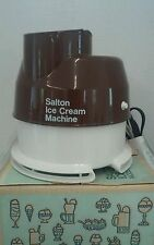 Vintage Salton Ice Cream Machine Model IC-4 with Instructions