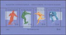 Finlandia 1991 jóvenes Hobbies/Deportes De Invierno/Esquí/Snowboard 4v m/s (n45262k)