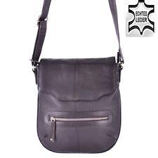 Tasche ECHT Leder Sling Messenger Cross Bag Schultertasche Umhängetasche Braun