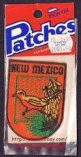 LMH PATCH Badge  NEW MEXICO  State Bird ROADRUNNER  Flower YUCCA GLAUCA   NIP