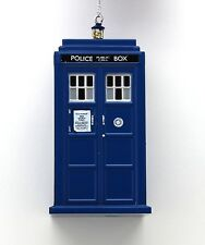 "Doctor WHO Licensed 4.5"" TARDIS Police Box Holiday ORNAMENT Kurt Adler Christmas"
