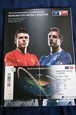 Man Utd v Everton 2009 FA Cup Semi Final Programme + Ticket Stub