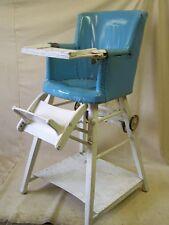 Ancienne Chaise Haute De Bébé, D'enfants, Bois Enfants Table Jeu Antique