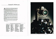 PUBLICITE ADVERTISING  1983   CANON  F1  appareil photo  ( 2 pages)