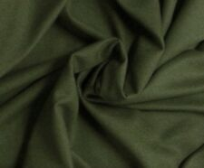 "ARMY GREEN BURLINGTON WOOL FABRIC 60"" WIDE  1 YARD"