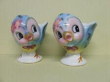 RARE/Vintage Lefton Bluebird Egg Cups (Signed, Japan, #7174)