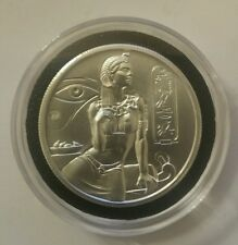 2 oz .999 silver Cleopatra Egyptian high relief Art round New 3d Elemetal