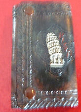 Vintage Collectible Embossed Leather Key Holder Wallet ! Tower of Pisa