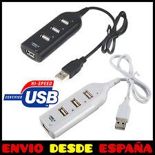 LADRÓN MULTIPUERTO HUB USB 4 PUERTOS 2.0 MULTIPLICADOR PC MULTICONECTOR
