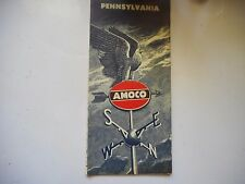 ancienne carte routière usa Pennsylvania Amoco road map