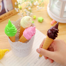 1Pcs Cute Cartoon Ballpoint Pens Kawaii Stationery Pen Writing Ice Cream Pens
