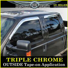 99-07 FORD SUPERDUTY CREW CAB Chrome Door Visors Window Side Shade Rain Guards