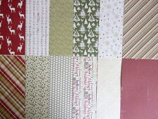 """12 sheets  12x12"""" Scrapbook Papers - Glad Tidings Christmas"""