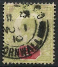 GB KEVII 1902-13, 2d Green And Red Used #D8544