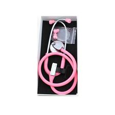 1pcs New Lightweight Portable Stethoscope Pink Free Shipping F086