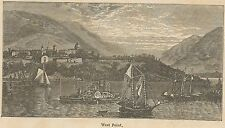 C8671 New York - West Point - General view - Stampa antica - 1892 Engraving