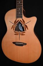 Luna Oracle Dragonfly Solid Top Acoustic Electric Guitar - Free Shipping!
