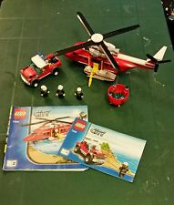 Lego City 7206 Fire Helicopter Complete 2010
