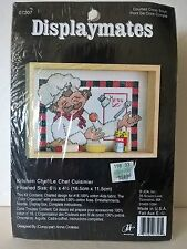 "JCA Displaymates 3D Counted Cross Stitch Kit ""Kitchen Chef"" 6 ½"" x 4 ½"""