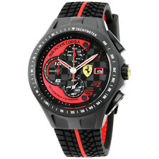Ferrari Scuderia Race Day Chronograph Black Dial 44 mm Men's Watch -  830077