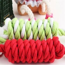 27cm Long Funny Puppy Dog Pet Chew Cotton Braided Bone Tug Play Rope Knot Toy